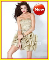 Sezy Fashion 2012 Sweetheart MIni beaded Rhinestone Stain Organza Homecoming Dresses Formal Party Cocktail Prom Dress Gown