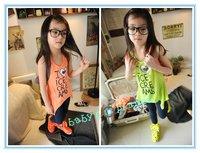 brandnew freeshipping  kid tops/girl t shirts/children clothing / sleeveless long shirts/5pcs/lot fashion design