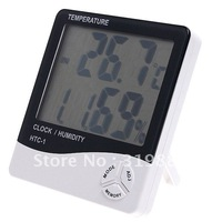 LCD Digital Temperature Humidity Meter Hygrometer Clock tester