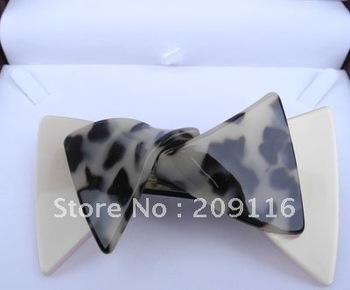 Unique  Leopard France Cellulose Acetate Butterfly Barrettes Hair Clips MOQ=1piece
