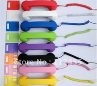 Wholesale Hot sale Retro POP handset cell mobile Phone Telephone Handset phone for iPhone iPad mobile phone FREE HIPPING