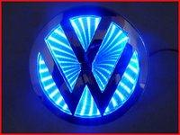 NEW 3D LED Car Decal Logo Light Badge Lamp Emblem Sticker for Blue VW Free Shipping