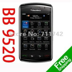 Unlocked original Blackberry 9520 storm Mobile cell phone Free shipping(China (Mainland))
