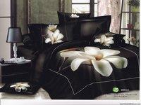 Hot Beautiful 4PC 100% COTTON COMFORTER DUVET DOONA COVER SET QUEEN / KING SIZE bedding set 4pcs Black background