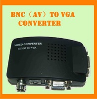free shipping BNC (AV) to VGA converter  /  S-Video/ BNC to VGA converter