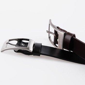 2012 New leather handsome Joker pure color man belt black brown