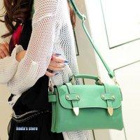 Candy colors Korea retro messenger bags Shoulder Messenger  pu handbag
