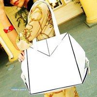 European style personalized stitching shoulder bag hand-held pu handbag