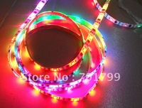 5m led digital strip,DC5V input,TSL3001 IC(4096 scale);32pcs IC and 32pcs 5050 SMD RGB each meter
