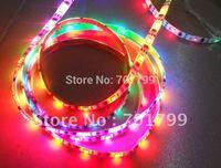 5m led digital strip,DC5V input,TSL3001 IC(4096 scale);32pcs IC and 32pcs 5050 SMD RGB each meter