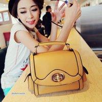 Lovely locks packet Mobile Messenger side pocket camera bag  pu handbag