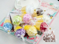 Free Shipping Monochrome small sweet tube cake towel, Ice cream gift towel, Children's day gift, 25g 10pcs/lot