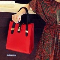 Business package belt decorated handbag leisure pu handbag