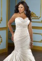 Hot Sale! NEW Sexy Mori Plus Size Wedding Dresses Mermaid Sweetheart Satin Embroidery Wedding Dress