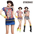 freeshiping 7.5 OTHERMIX short-sleeve chiffon shirt top 12r20020