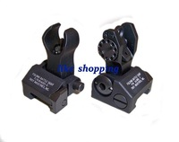 Front and Rear Folding Battle sight M4 Style black/tan to choose free shipping