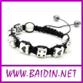 Free Shipping  square Shamballa bead Crystal  shamballa bracelet Wholesale 12pcs/lot