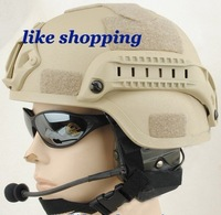 Helmet with NVG Mount ARC Rail (tan) free shipping