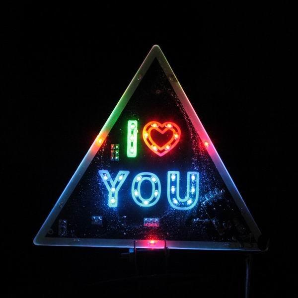 NewTriangle I Love You Pattern LED