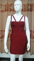 H142 hot sale brand name women's bandage dress Free shipping