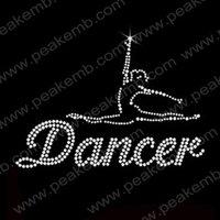 30pcs/Lot Free Shipping Custom Design Available Bling Dancer Crystal Rhinestone Transfer