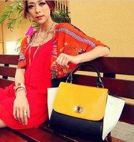 New Korean hit color messenger bags handbags diagonal pu bags