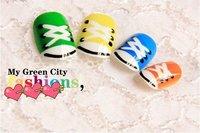 FREE SHIPPING ,new arrival,  tennis shoes colorful /hiphop stlye  FALSE NAIL 24pcs/lot,
