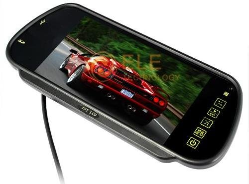 7 inch Bluetooth Car monitor USB SD With MP5 IR Remote controller Color TFT LCD Car Rearview Mirror(China (Mainland))