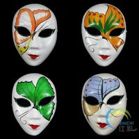 High quality Womens Masquerade Masks For Parties Paper Mache Full Face Decorative  10pcs/lot mix Free shipping