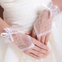 fingerless lace wedding gloves
