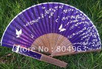 [China Confucian]Free Shipping 10pcs of silk fan,folding fan,craft fan,hand held bamboo fan for best gifts