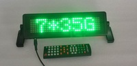 LED car display/LED car sign/ English and Russian remote control/ moving sign/ programmable sign/pixel 7x35 Green
