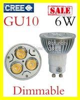 2014 Low price GU10 3x2W 6W CREE High power Dimmable LED Spot Light Bulb Spotlight downlight lamp 40W DHL FREE