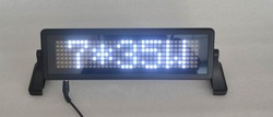 LED car display/LED car sign/ moving sign/programmable sign/ Pixel 7x35 White(China (Mainland))