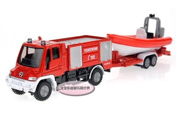 Free shipping SIKU Benz fire tug set , alloy model car, kids hot toys ,Christmas gift car electronics