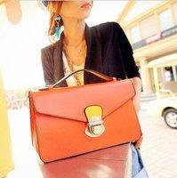 European colorful briefcase handbag shoulder pu bags