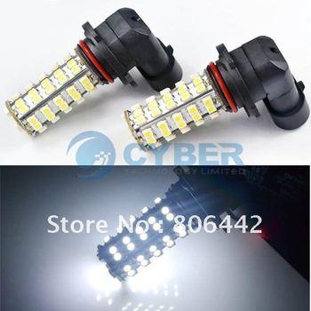 Free Shipping 2pcs HB3 9005 68 SMD LED Car Auto Fog Light Bulb Lamp High Beam Daytime Running Lights White 12V