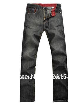 Free Shipping retail & wholesale Men's jeans, 2013 New Arrival Men's fashion jeans ,size 29-40 ,#9802,black color,designer jeans