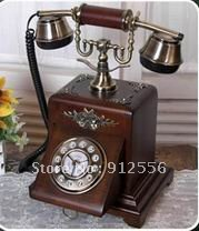 corded telephone manufacturer at factory price hot sell solid wood antique corded telephone(China (Mainland))