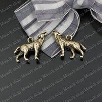 (23437)Alloy Findings,charm pendants,Antiqued style bronze tone Wolf 10PCS