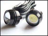 2PCS/lot Car Eagle Eye Lights 12V White Color High Power 3W/LED Larger Lens Reverse Backup Rear Tail Light Lamp IP68