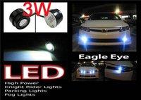 Whloesale 20pcs/lot 3w Car Led Light Eagle Eye Lamp With Screw Car Reversing Light  Daytime Running Light HK Post Free Shipping