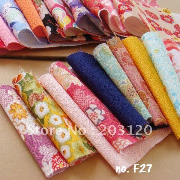Free Shipping Japan 20pcs 10cm 30cm Japanese Brocade Chirimen Cotton Fabric Crepe DIY F27  Free Swimsuit Sewing Patterns