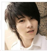 Men hair style Japanese and Korean non-mainstream students, free shipping boys wig short hair male hair wig wholesale