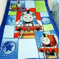 Free Shipping,150cm*200cm Coral Fleece Tank Engine Cartoon Pattern Children/Babies Blanket /Bed Sheets
