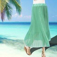 Женская юбка Summer Women Puff Half-length Gauze Full Skirt Summer Pleated Multifunctional Basic Tutu Long Maxi Skirts D0726