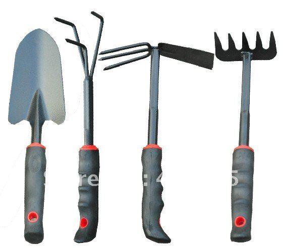 Garden tools small garden sets shovel forks hoe rake for Small rake garden tools