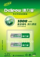 Delipow  1000mA AAA 1.2V Ni-Mh rechargeable battery Genuine high-capacity 1 USD/pcs only