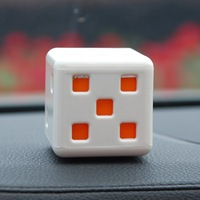 10PCS/LOT Free Shipping Creative dice car perfume seat / car seat perfume color random HQS-G922