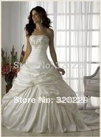 2014 Stock the picture color Wedding Brides Dress size 6 8 10 12 14 16   LJ01